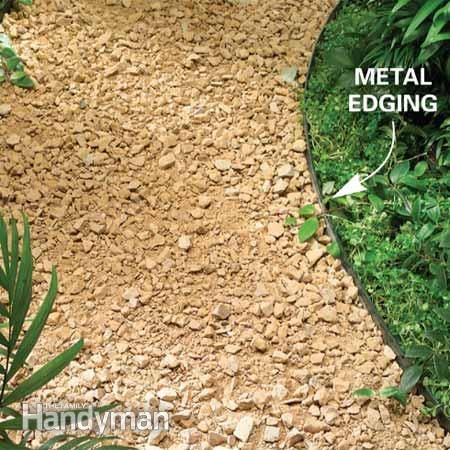 30 best images about backyard designs on pinterest fire for Gravel path edging ideas