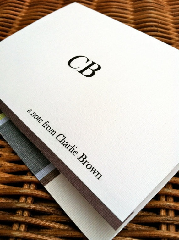 Men's Stationery  Personalized Note Card by AllThatJazzBySophie, $16.00