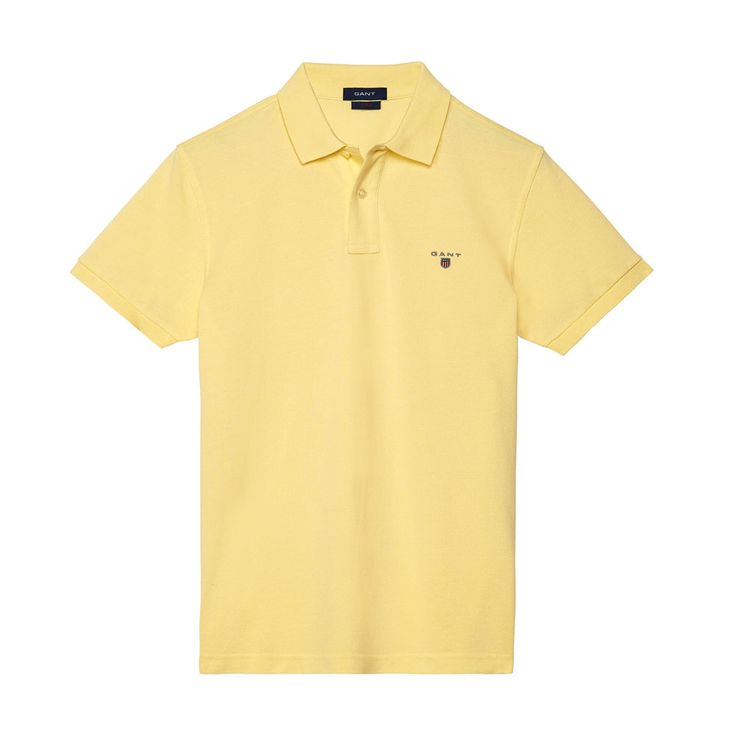 Gant Polo GANT SOLID Lemon T-Shirt - 8 #GantPolo