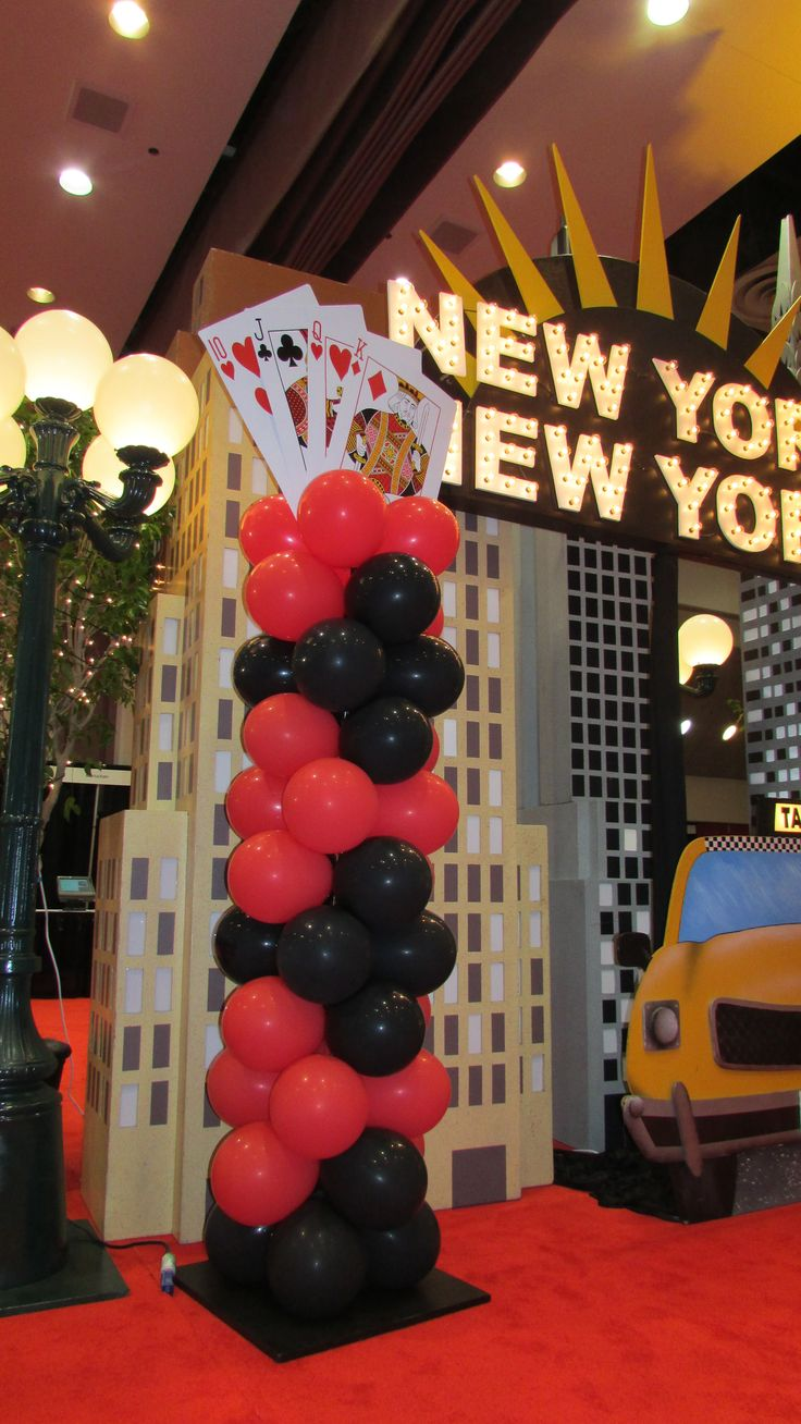 Colorful balloons twisted into statuesque columns wwwpartyfiestadecorcom