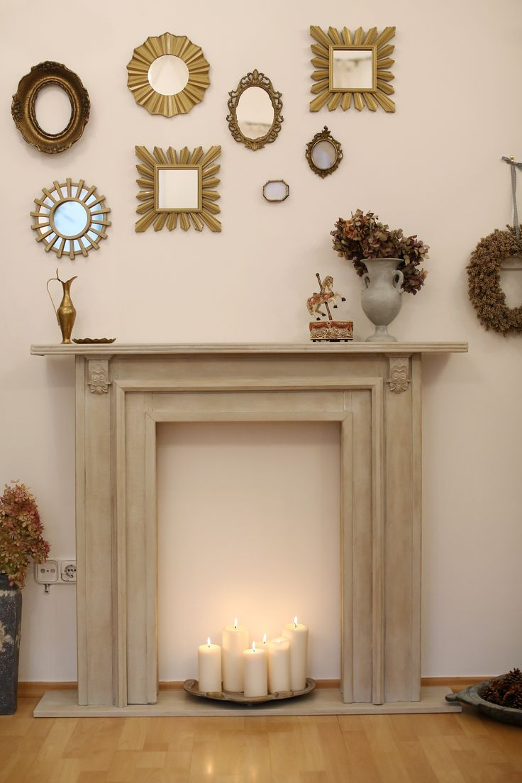 Faux Fireplace with Paris Grey, Old White and Dark wax