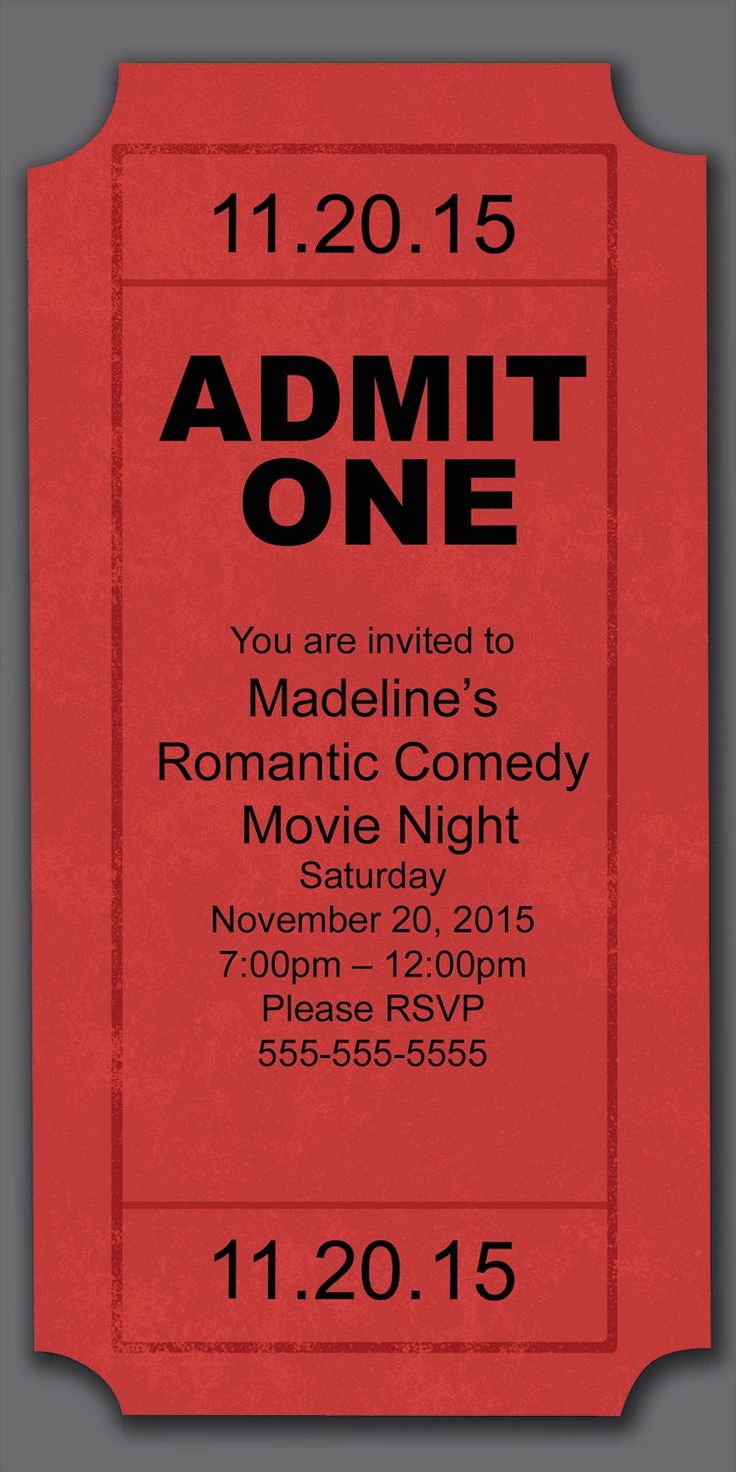 Movie Night Party Invitation - Birthday Invitations from CardsDirect