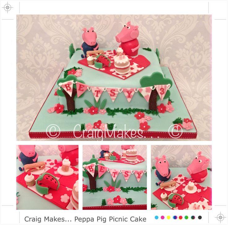 Peppa pig inspired cake