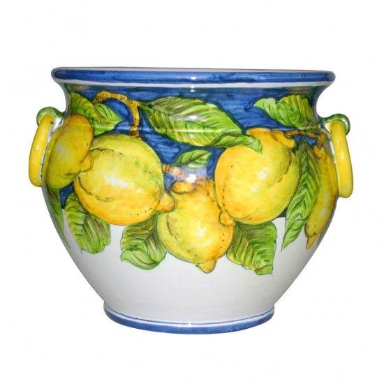Vase wiht handle 14x16 inch, made in Italy  http://www.artesiaceramica.it/ceramiche-en-538-vase.html