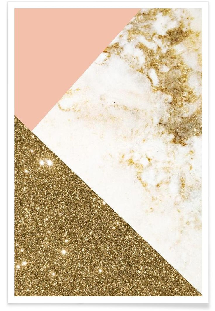 Pink and Gold Marble Collage VON cafelab now on JUNIQE!