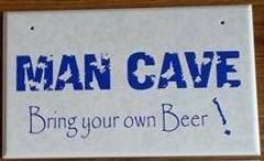 Man Cave vinyl on ceramic tile plaque by SuperBVinyl on Etsy