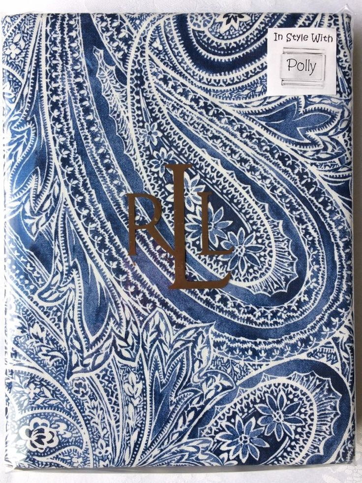 RALPH LAUREN CLOTH TABLECLOTH VERANDA PAISLEY BLUE WHITE 60 X 104 NEW # RalphLauren | InStylePolly | Pinterest