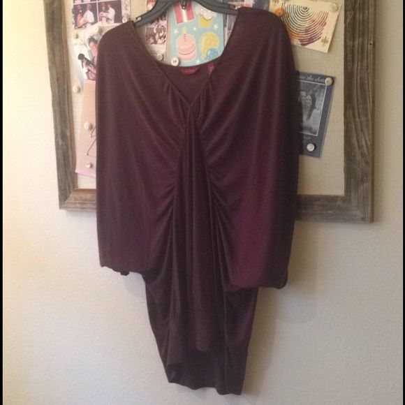 Ted Baker Tunic - Dark Purple Great condition and very soft! Wore it with a Cani underneath and paired with black leggings. Ted Baker Tops Tunics