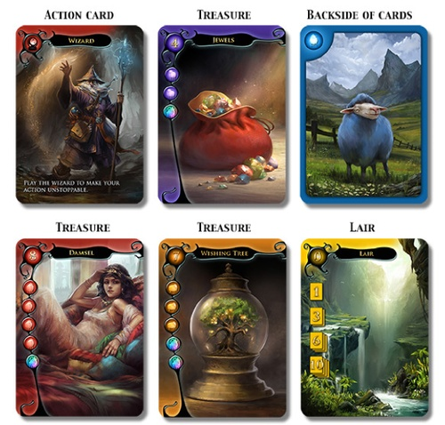 Dragon's Hoard | Image | BoardGameGeek. Another image. Beautiful artwork. It makes the game.