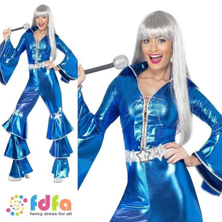 70s DANCING DREAM QUEEN WATERLOO ABBA - 8-14 - womens ladies fancy dress costume #Smiffys #CompleteOutfit