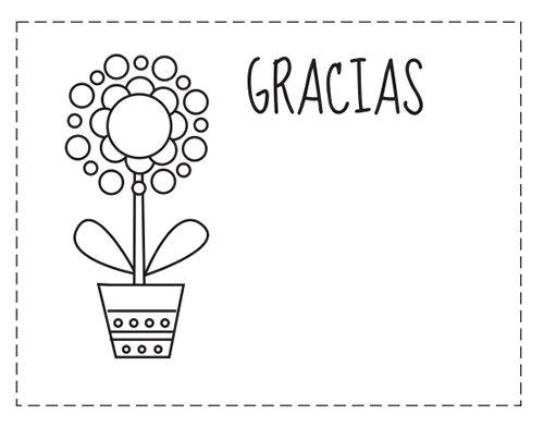 Tarjetas de gracias para colorear   BORDES Y MARCOS   Pinterest ...