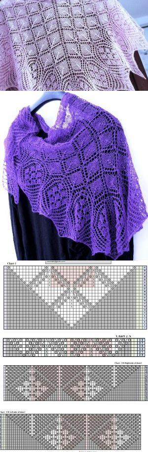 Красивые ажурные шали спицами - САМОБРАНОЧКА рукодельницам, мастерицам