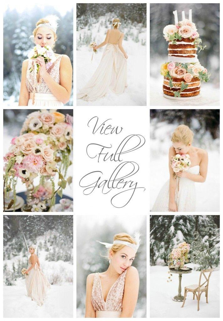 blush winter wedding ideas