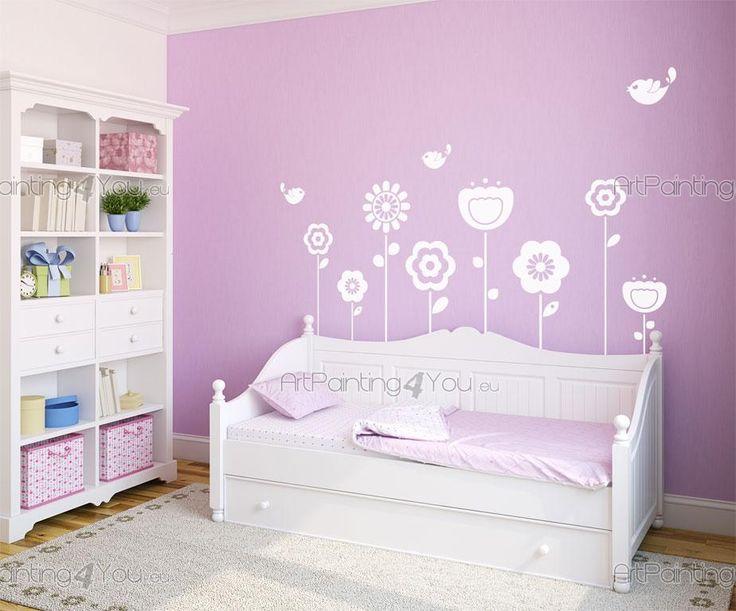 Blommor (Kit) - Brett utbud av dekorativa produkter, Väggdekor och Wallstickers Barnrum, Väggdekoration Barn, Väggdekaler. Det roliga sättet att Dekorera på!