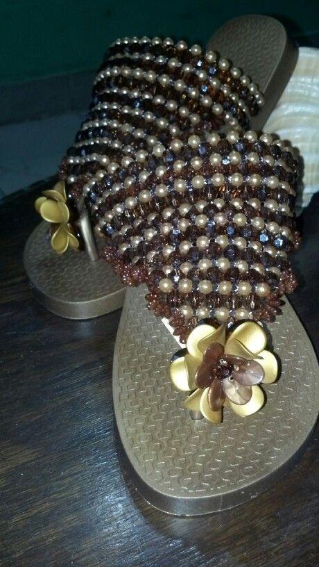 Handmade decorative flip flops