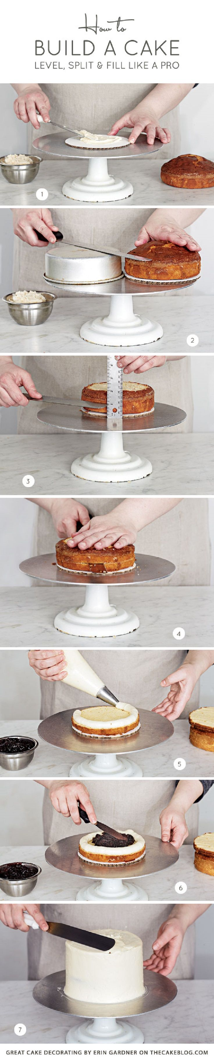 How To Build a Cake Level, Split and Fill Like a Pro - 17 Amazing Cake Decorating Ideas, Tips and Tricks That'll Make You A Pro