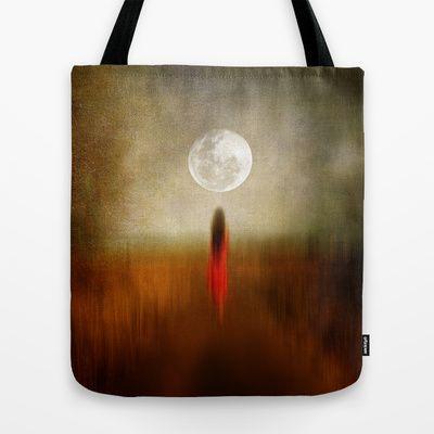 Woman in red. by Viviana Gonzalez Tote Bag by Viviana Gonzalez - $22.00