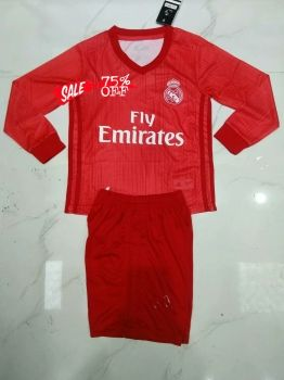 2018-19 Cheap Youth Kit Real Madrid 3rd LS Replica Soccer Kids Suit  DFC18  10d8ccbbf4e7