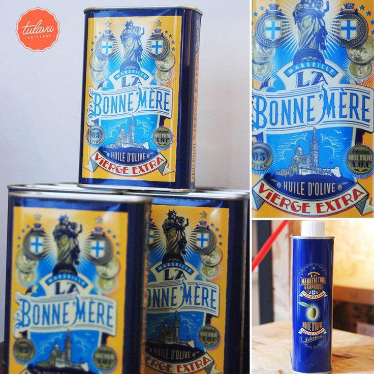 //Collection BONNE MÈRE// Bidon d'#Huile #Marseille - Graphisme Design & Illustration by Stephan Muntaner