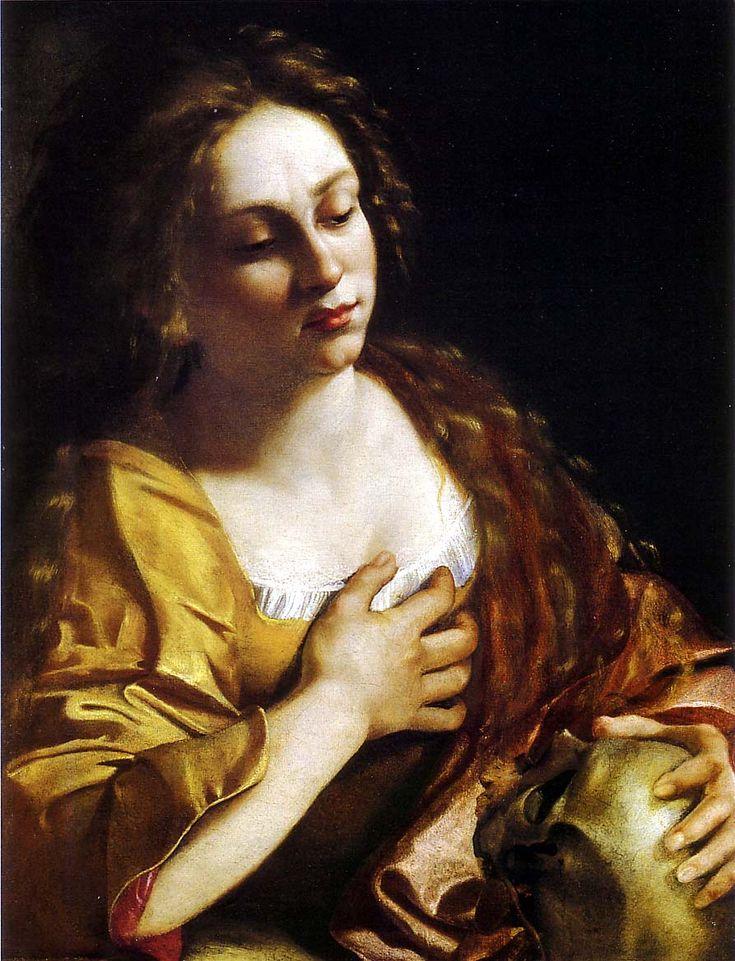 Artemisia Gentileschi Madeleine pénitente 1630, Los angeles