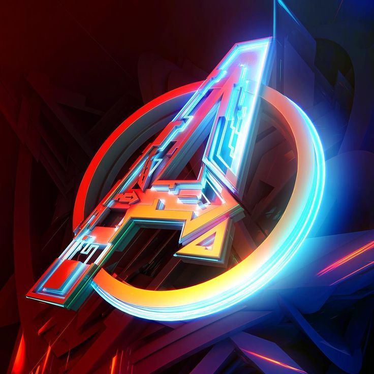 #avengers #logo #edit With #spiderverse #filter Applied