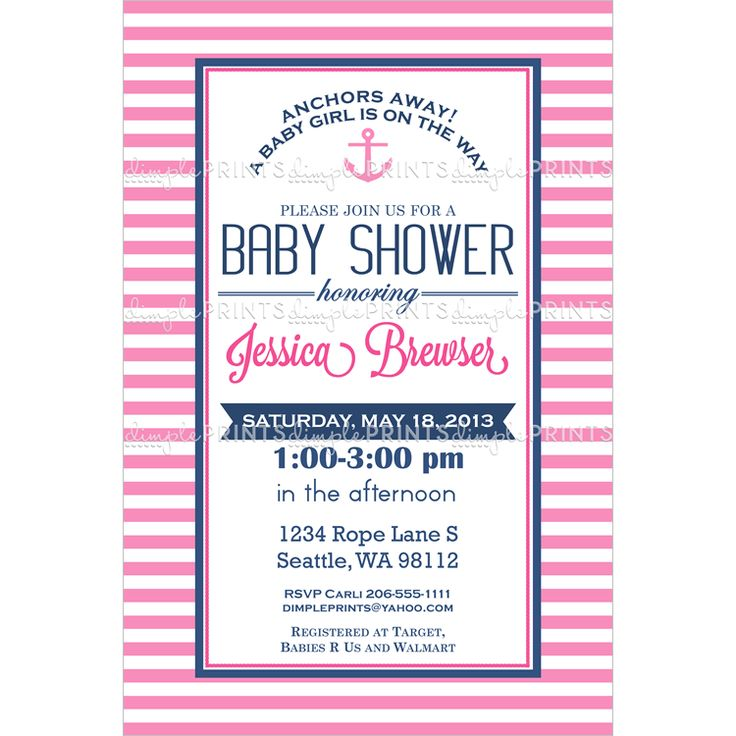 20 best Nautical Girl Baby Shower images on Pinterest | Baby girl ...