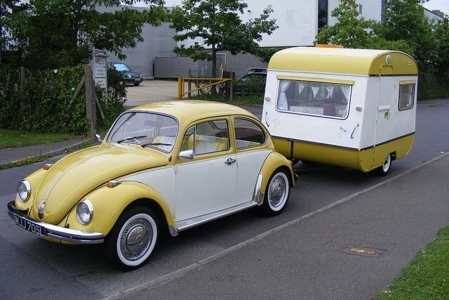 vw bug and matching trailer