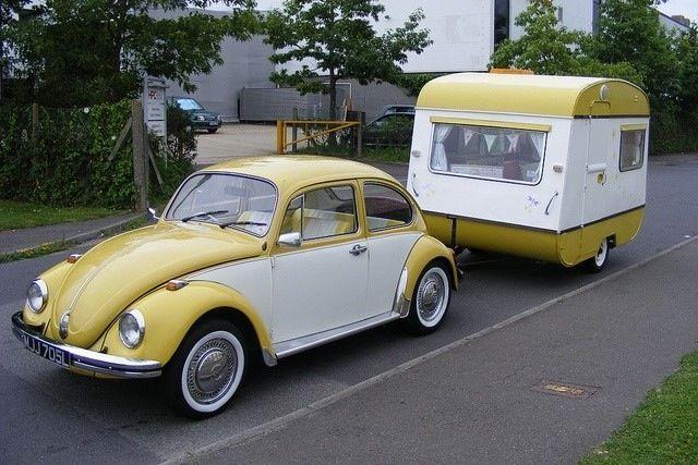 vw bug and matching trailer