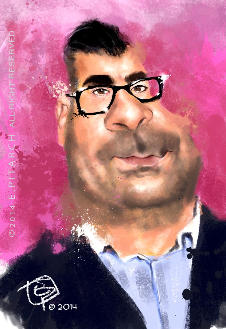 Caricatura de un personaje de la prensa rosa española. Jorge Javier Vázquez. Photoshop. E. Pitarch © All reserved.