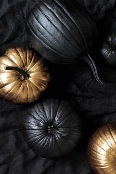 Black & Gold Pumpkins: