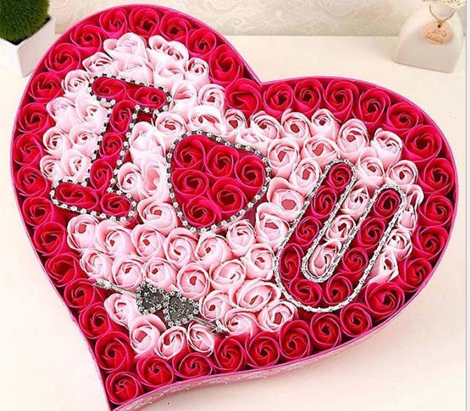 IOU Soap Rose box VALENTINES GIFT