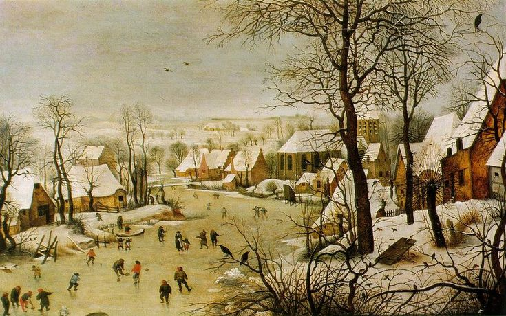 Pieter Bruegel the Elder - Winter Landscape with a Bird Trap (1565), Kunsthistorisches Museum, Vienna
