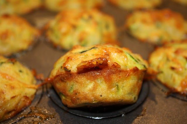 Zucchini Muffins - pretty good - about 90 calories each and 4 g protein in 1 regular sized muffin