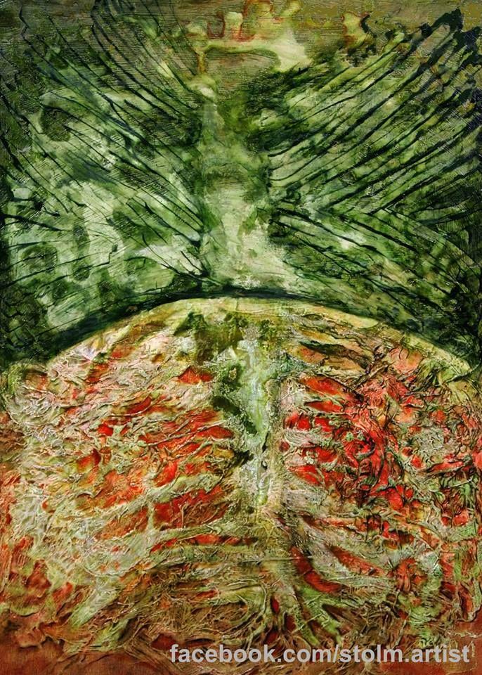 Phoenix oil painting artist Stanisława Olszańska Marszałek abstraction art