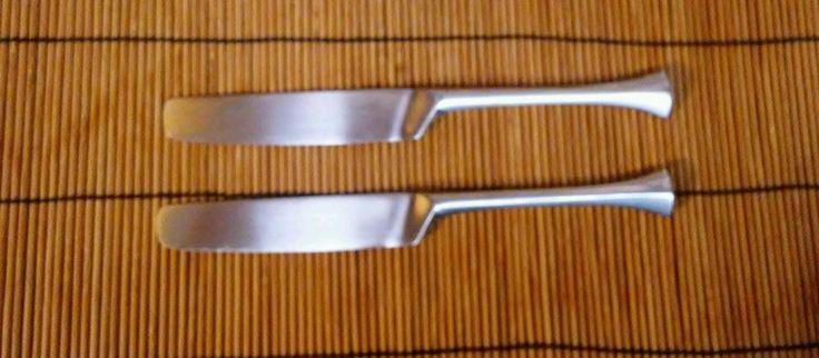 2 Dansk Designs France Thistle Pattern Table Knives #Dansk