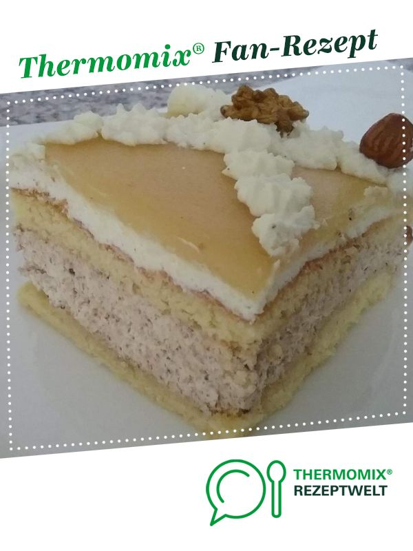 Nusscremeschnitten mit Marzipan-Ecke   – Kuchen
