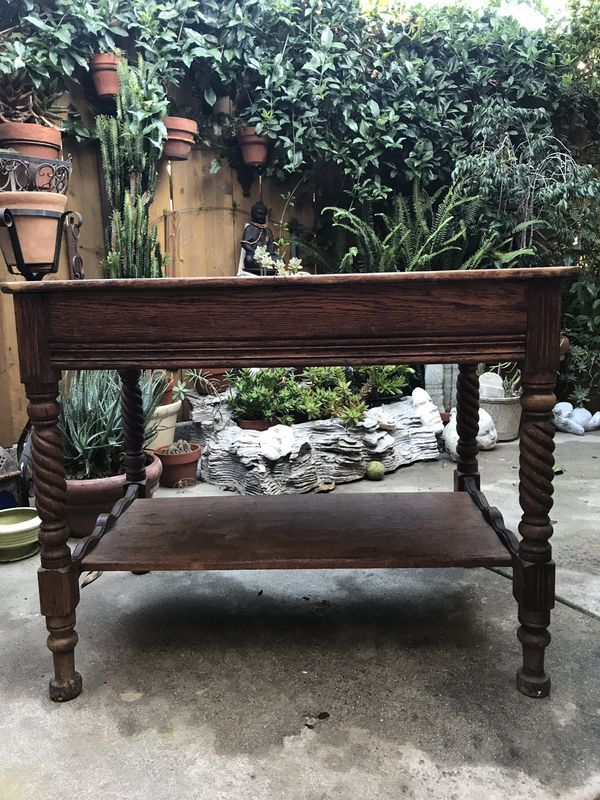 Antique Library Table For Sale In Santa Barbara Ca Offerup Used Furniture For Sale Vintage Housewares Library Table
