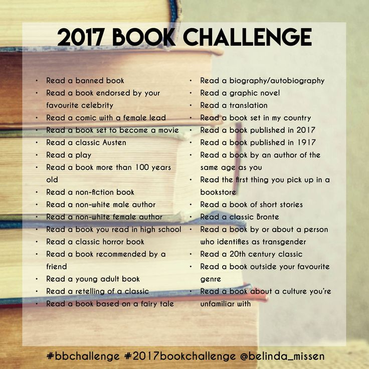 Book challenge 2017!