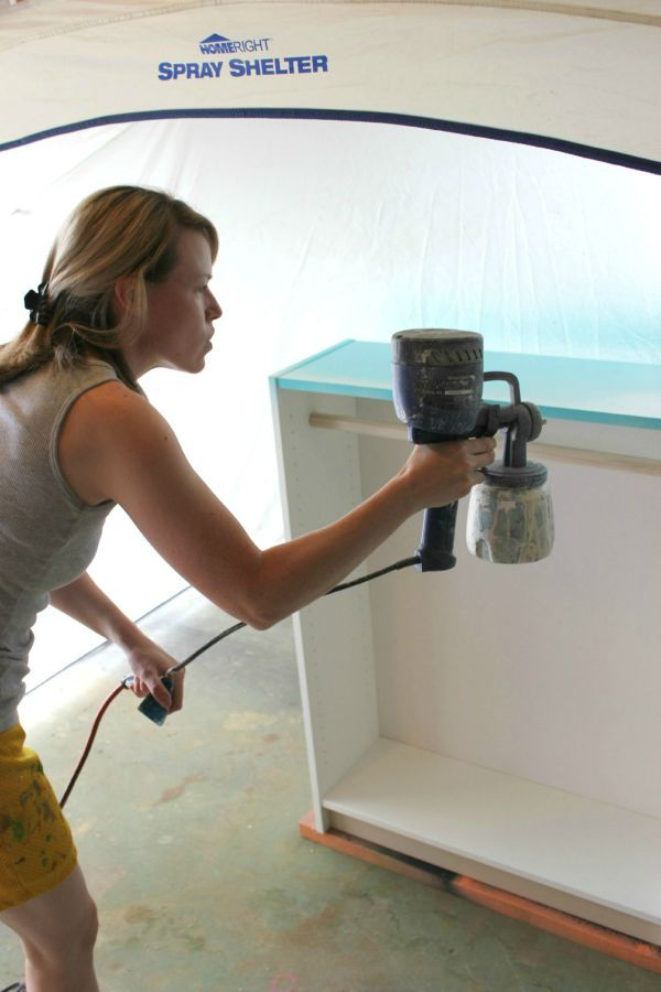 The Ultimate Guide for How to Use a Paint Sprayer - from set-up to thinning the paint to an easy clean-up, its all here!
