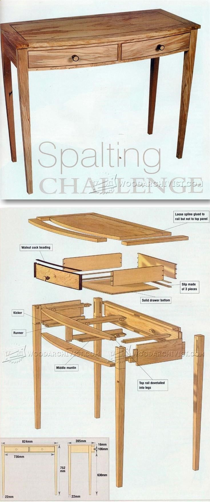 Side Table Plan - Furniture Plans and Projects   WoodArchivist.com #woodworkingprojects