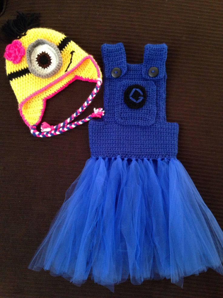 Girl minion crochet outfit & 158 best Minion crochet costumes u0026 more. images on Pinterest ...