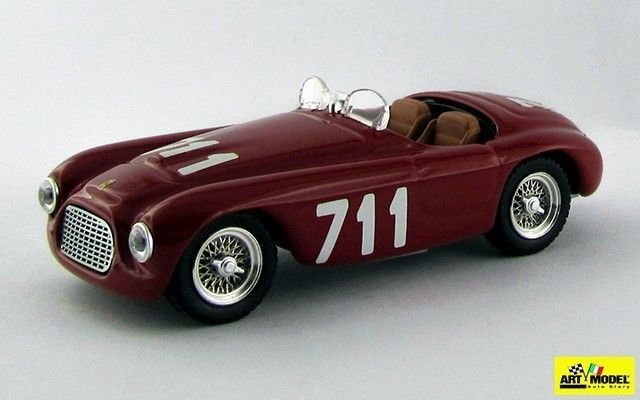 ART052 - FERRARI 166 MM BARCHETTA - Mille Miglia 1950 -   CAR MODELS, AUTOMODELL