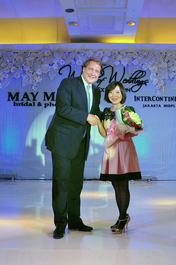Mr. Hendrik Eising and Ms. Yayang Tanie do the opening remarks #IC #Jakarta #WorldofWeddings #Exhibition