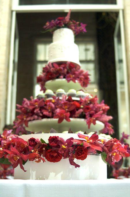 Bolo de casamento doces flores orquídeas (Foto: Flor e Forma)