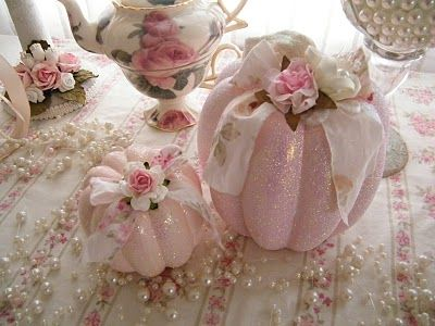 Shabby Chic Pink Pumpkins