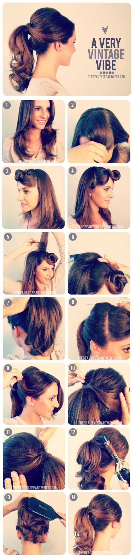 vintage how to hair styles! #diy #retro 1950′S INSPIRED PONYTAIL