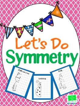 Symmetry Math Activities A favorite activity of the kiddos trying to draw the other half. It's fun for the teachers to see the improvement!