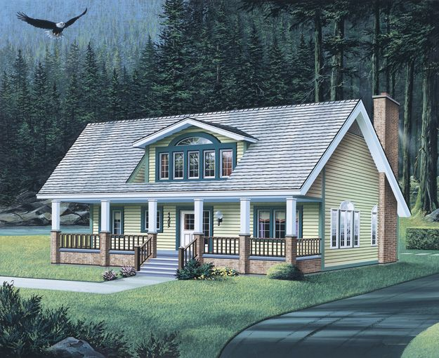 167 best images about country home plans on pinterest for House plans with dormers and front porch