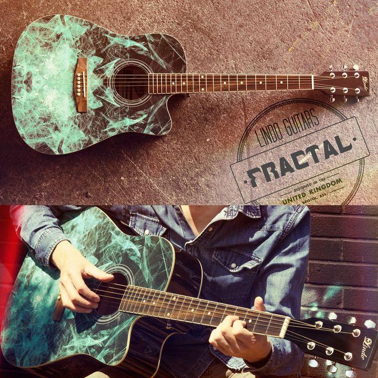 Lindo Fractal 42c Acoustic Guitar Gig Bag Blue Graphic Art Etsy Acoustic Guitar Blue Acoustic Guitar Guitar