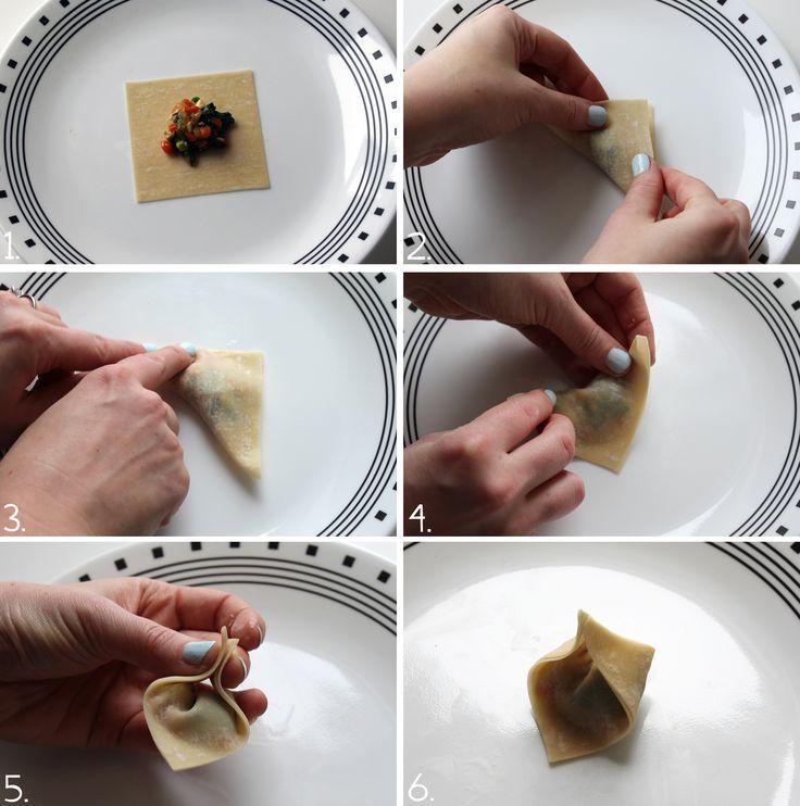 how to make fold dumplings
